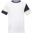 Fila Boy's Core Performance Doubles Tennis Crew (White/Navy/Acid Lime) -