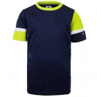 Fila Boy's Core Performance Doubles Tennis Crew (Navy/Acid Lime/White) -