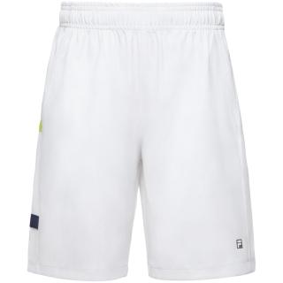 Fila Boy's Core Performance Tennis Shorts (White/Navy/Acid Lime)