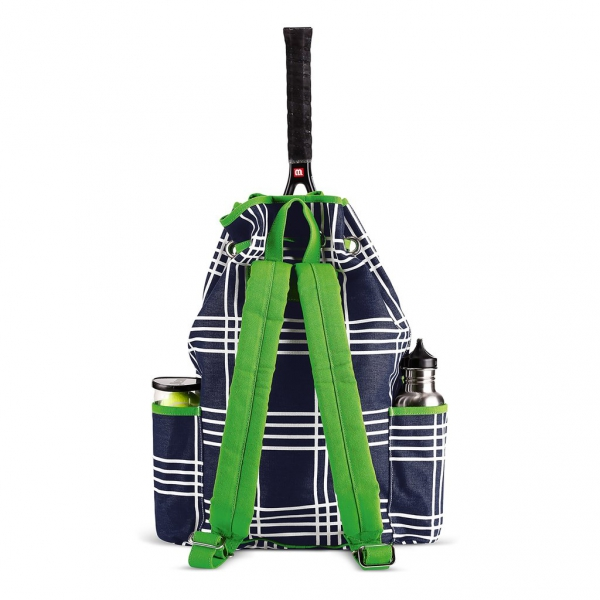 Ame & Lulu Parker Plaid Kinglsey Tennis Backpack
