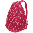 All For Color Pink Quatrefoil Tennis Backpack - Tennis Racquet Bags