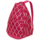 All For Color Pink Quatrefoil Tennis Backpack - New Tennis Bags
