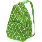 All For Color Lime Quatrefoil Tennis Backpack - All For Color