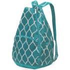 All For Color Turquoise Quatrefoil Tennis Backpack - Tennis Racquet Bags