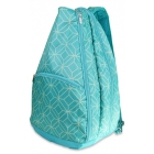 All For Color Turquoise Geo Gem Tennis Backpack - All For Color