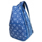 All For Color Navy Geo Gem Tennis Backpack - All For Color