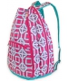 All For Color Pink Charmer Tennis Backpack - All for Color Tennis Bags