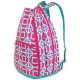 All For Color Pink Charmer Tennis Backpack - Designer Tennis Bags