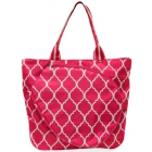 All For Color Pink Quatrefoil Tennis Tote - All for Color Tennis Bags