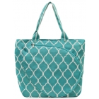 All For Color Turquoise Quatrefoil Tennis Tote - Tennis Racquet Bags