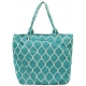 All For Color Turquoise Quatrefoil Tennis Tote - New Tennis Bags