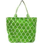 All For Color Lime Quatrefoil Tennis Tote - All for Color Tennis Bags