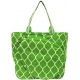 All For Color Lime Quatrefoil Tennis Tote - Tennis Tote Bags