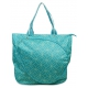 All For Color Turquoise Geo Gem Tennis Tote - All For Color