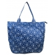 All For Color Navy Geo Gem Tennis Tote - Designer Tennis Bags