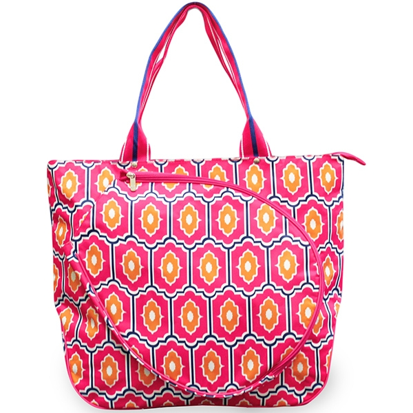 All For Color Moroccan Tile Tennis Tote