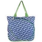 All For Color Nautical Tide Tennis Tote - All for Color Tennis Bags