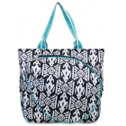 All For Color Aztec Ikat Tennis Tote - All for Color Tennis Bags