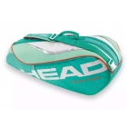Head Tour Team 3 Pk Pro Tennis Bag (Teal/Orange) - 3 Racquet Tennis Bags