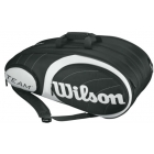 Wilson Team Black/Silver Collection 12 Pack Tennis Bag (Black/ Silver) - Tennis Racquet Bags