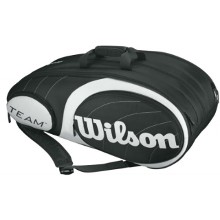 Wilson Team Black/Silver Collection 12 Pack Tennis Bag (Black/ Silver)