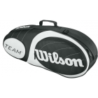 Wilson Team Black/Silver Collection 3 Pack Tennis Bag (Black/ Silver) - 3 Racquet Tennis Bags