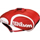 Wilson Team Red Collection 12 Pack Tennis Bag (Red/ White) - Tennis Racquet Bags
