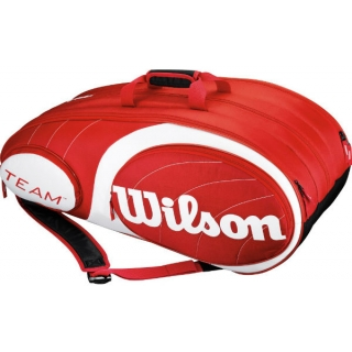 Wilson Team Red Collection 12 Pack Tennis Bag (Red/ White)