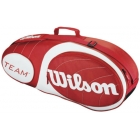 Wilson Team Red Collection 3 Pack Tennis Bag (Red/ White) - Tennis Racquet Bags