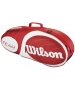 Wilson Team Red Collection 3 Pack Tennis Bag (Red/ White) - Wilson Tennis Bags