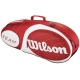 Wilson Team Red Collection 3 Pack Tennis Bag (Red/ White) - Wilson Team Collection Tennis Bags