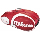 Wilson Team Red Collection 6 Pack Tennis Bag (Red/ White) - Wilson Tennis Bags