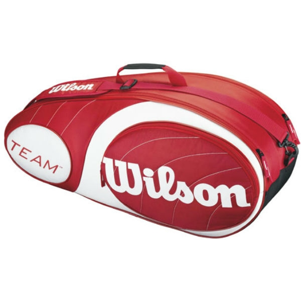 Wilson Team Red Collection 6 Pack Tennis Bag (Red/ White)