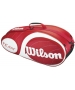 Wilson Team Red Collection 6 Pack Tennis Bag (Red/ White) - Tennis Bags on Sale