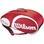 Wilson Team Red Collection 9 Pack Tennis Bag (Red/ White) - Tennis Racquet Bags
