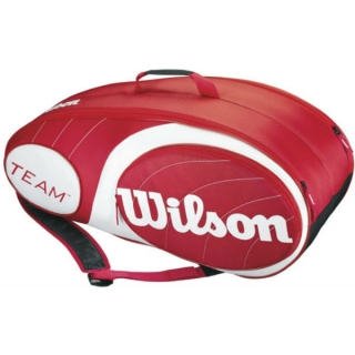 Wilson Team Red Collection 9 Pack Tennis Bag (Red/ White)