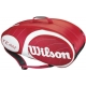 Wilson Team Red Collection 9 Pack Tennis Bag (Red/ White) - Wilson Team Collection Tennis Bags