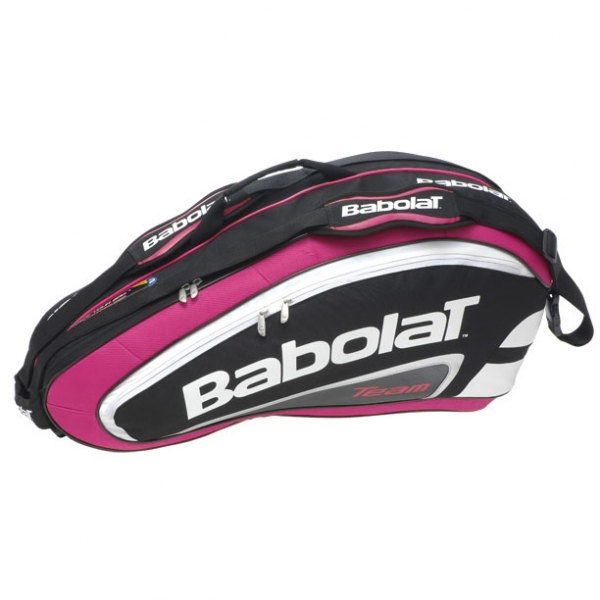 Babolat Team Racquet Holder x6 (Pink/ Black)