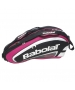 Babolat Team Racquet Holder x6 (Pink/ Black) - Babolat Team Tennis Bags