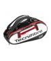 Tecnifibre Pro Endurance 15R Tennis Bag (Black/White/Red) - Tecnifibre Endurance Tennis Bags and Backpacks