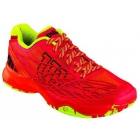 Wilson Men's Kaos Tennis Shoes (Red/ Lime) - Lightweight Tennis Shoes