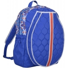 cinda b Royal Bonita Tennis Backpack - Designer Tennis Bags - Luxury Fabrics and Ultimate Functionality