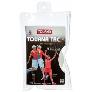 Tourna Tac XL White Overgrip (10 Pack)