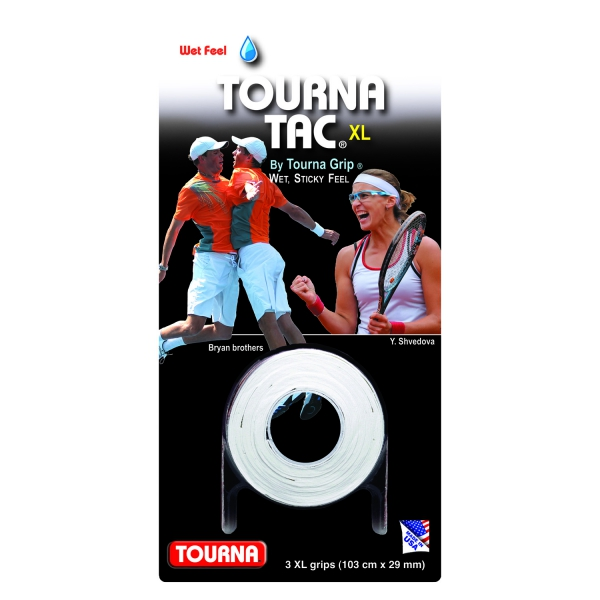 Tourna Tac Overgrip XL White (3 Pack)