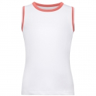 Fila Girl's Core Performance Full Back Tennis Tank (White/Calypso Coral) - Girl's Tennis Apparel