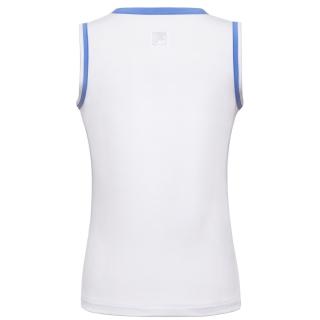 Fila Girl's Core Performance Full Back Tennis Tank (White/Amparo Blue)