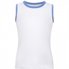 Fila Girl's Core Performance Full Back Tennis Tank (White/Amparo Blue) - Girl's Tennis Apparel