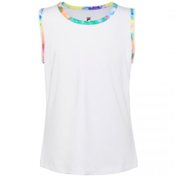 Fila Girl's Core Performance Full Back Tennis Tank (White/Tie Dye)