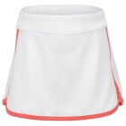 Fila Girl's Core Performance Tennis Skort (White/Calypso Coral) - Girl's Tennis Apparel