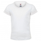 Fila Girl's Core Performance Short Sleeve Tennis Top (White) - Girl's Tennis Apparel